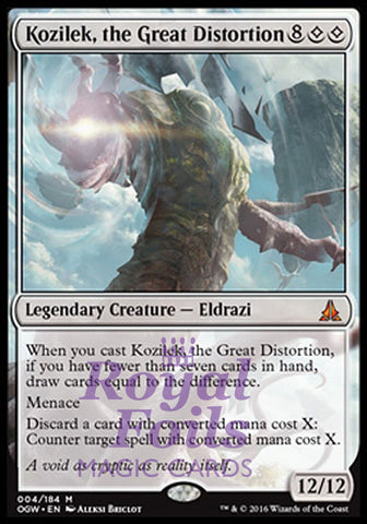 **1x FOIL Kozilek the Great Distortion OGW MTG Oath of the Gatewatch Mythic MINT