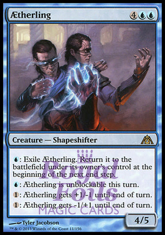 **1x FOIL Aetherling** DGM MTG Dragon's Maze Rare MINT blue