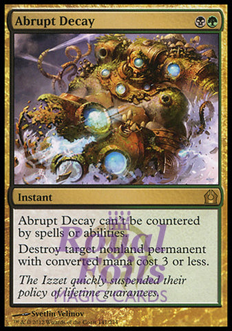 **1x FOIL Abrupt Decay** RTR MTG Return to Ravnica Rare MINT black green