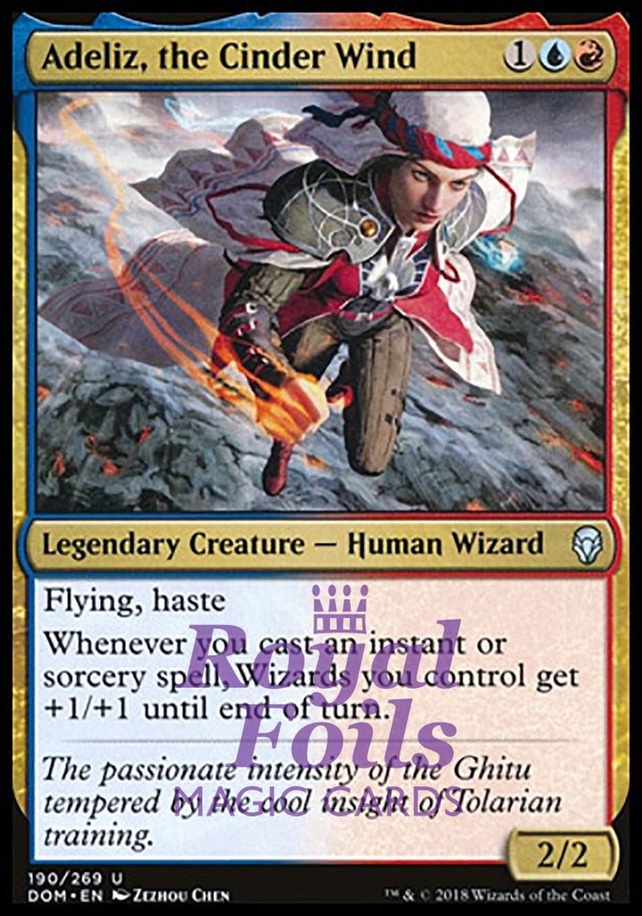 **2x FOIL Adeliz, the Cinder Wind** DOM MTG Dominaria Uncommon MINT