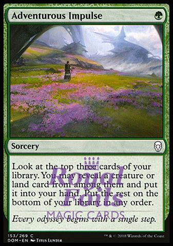 **1x FOIL Adventurous Impulse** DOM MTG Dominaria Common MINT green