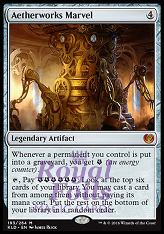 **1x FOIL Aetherworks Marvel** KLD MTG Kaladesh Mythic MINT artifact