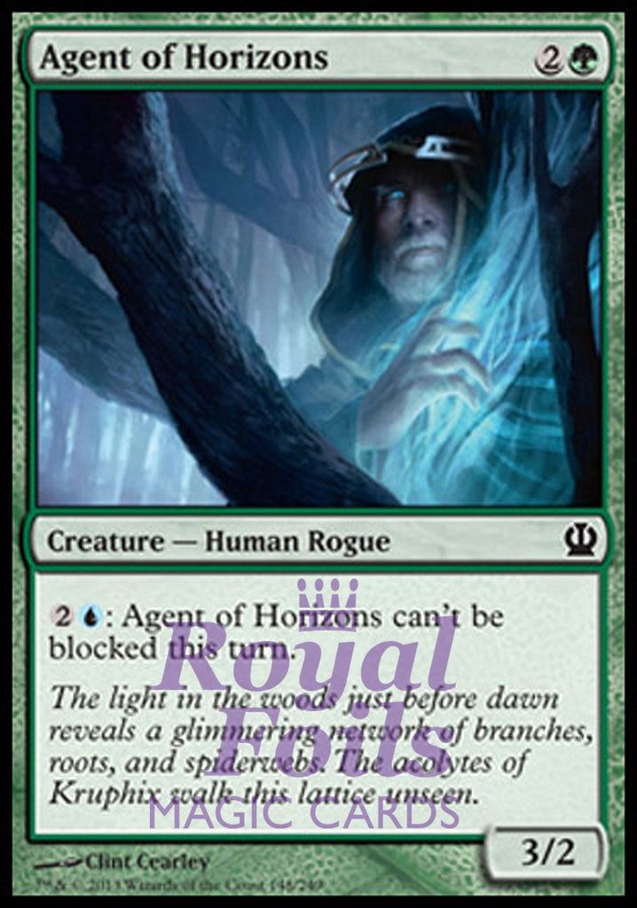 **4x FOIL Agent of Horizons** THS MTG Theros Common MINT green
