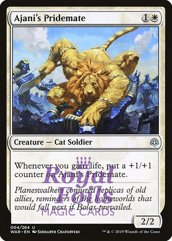 **1x FOIL Ajani's Pridemate** WAR MTG War of the Spark Uncommon MINT white