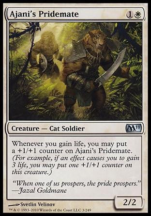 **1x FOIL Ajani's Pridemate** MTG M11 Core Set Uncommon MINT white