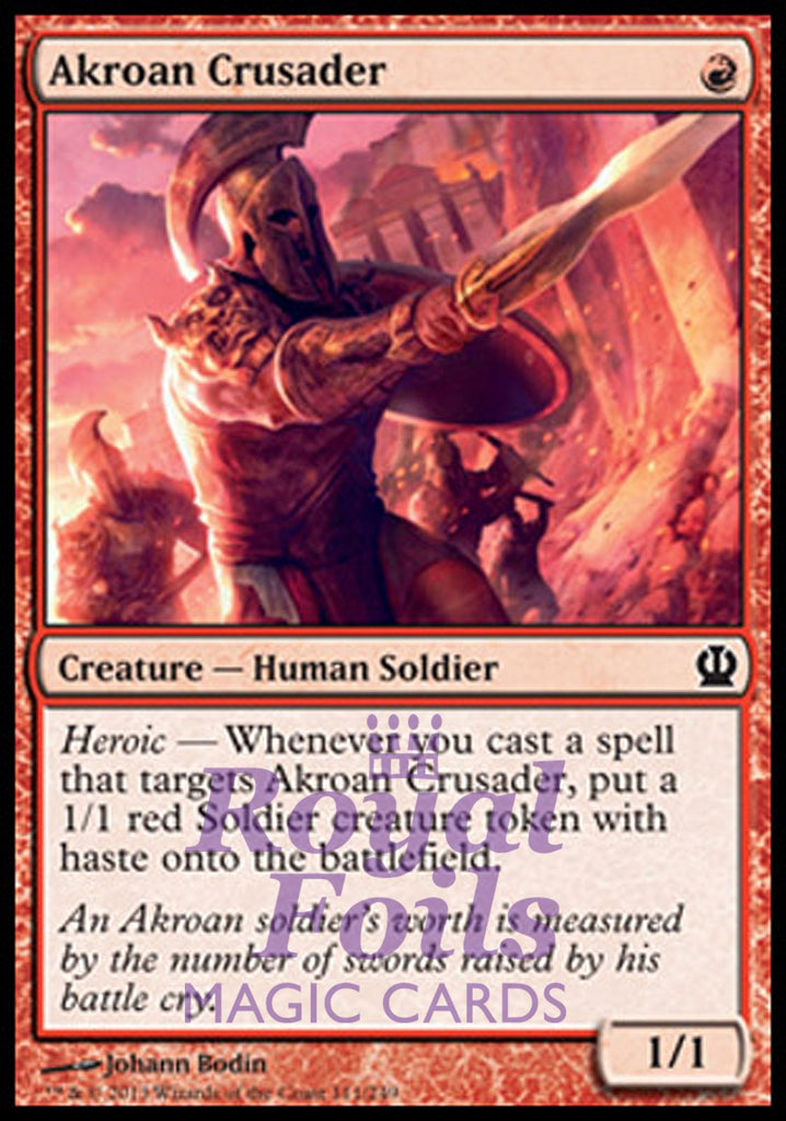 **2x FOIL Akroan Crusader** THS MTG Theros Common MINT red
