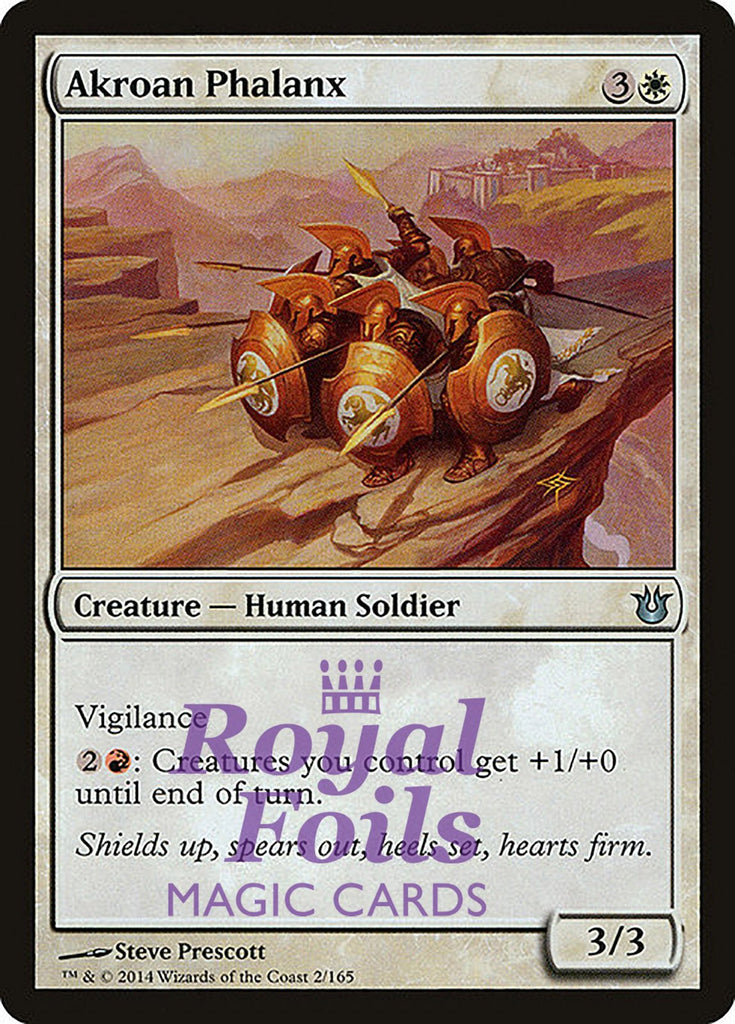 **4x FOIL Akroan Phalanx** BNG MTG Born of the Gods Uncommon MINT white