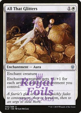**1x FOIL All That Glitters** ELD MTG Throne of Eldraine Uncommon MINT white
