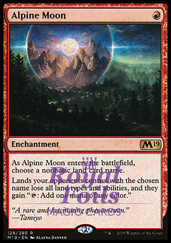 **1x FOIL Alpine Moon** M19 MTG Core Set 2019 Rare MINT red