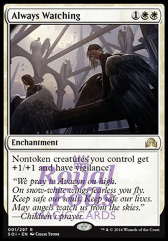 **1x FOIL Always Watching** SOI MTG Shadows Over Innistrad Rare MINT white