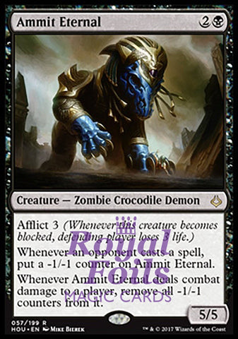 **1x FOIL Ammit Eternal** HOU MTG Hour of Devastation Rare MINT black