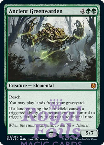 **1x FOIL Ancient Greenwarden** ZNR MTG Zendikar Rising Mythic MINT green