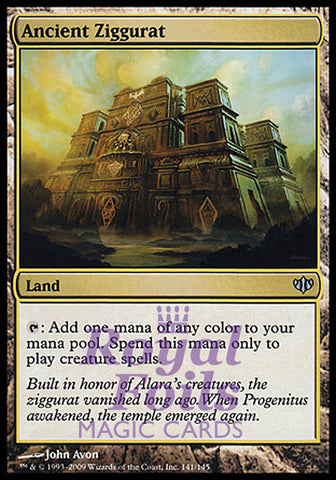 **1x FOIL Ancient Ziggurat** CON Conflux Uncommon MINT land