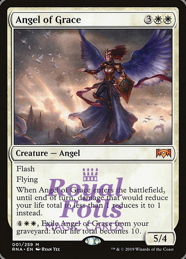 **1x FOIL Angel of Grace** RNA MTG Ravnica Allegiance Mythic MINT white