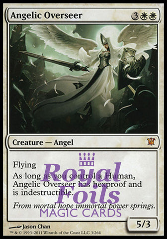 **1x FOIL Angelic Overseer** ISD MTG Innistrad Mythic MINT white