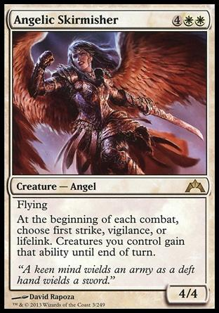 **1x FOIL Angelic Skirmisher** GTC MTG Gatecrash Rare MINT white