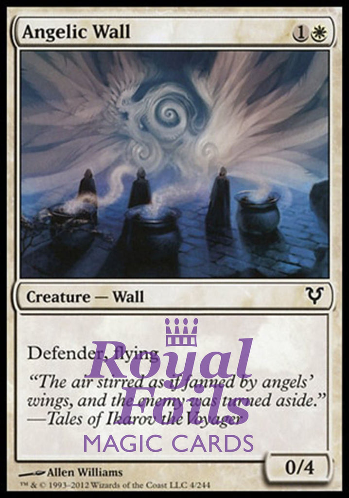 **3x FOIL Angelic Wall** AVR MTG Avacyn Restored Common MINT white