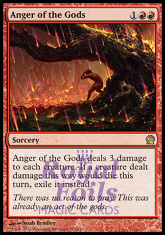 **1x FOIL Anger of the Gods** THS MTG Theros Rare MINT red