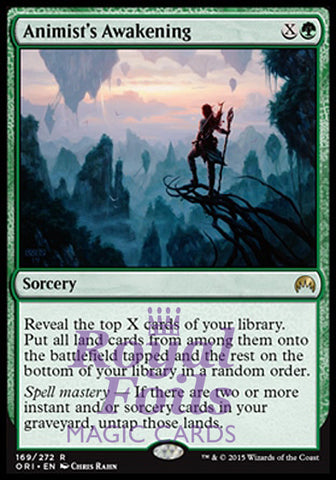 **1x FOIL Animist's Awakening** ORI MTG Magic Origins Rare MINT green