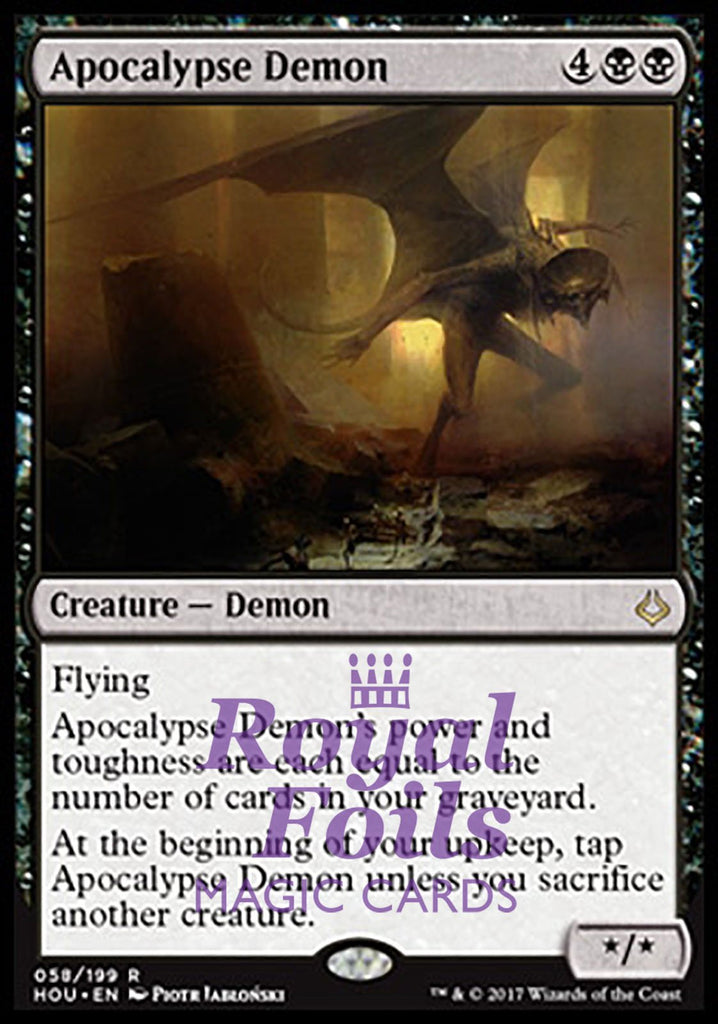 **1x FOIL Apocalypse Demon** HOU MTG Hour of Devastation Rare MINT black