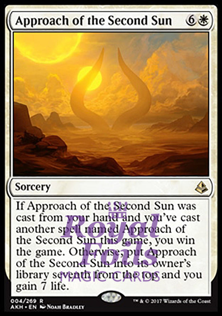 **1x FOIL Approach of the Second Sun** AKH MTG Amonkhet Rare MINT white