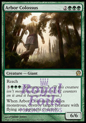 **1x FOIL Arbor Colossus** THS MTG Theros Rare MINT green