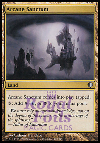 **1x FOIL Arcane Sanctum** ALA MTG Shards of Alara Uncommon MINT land