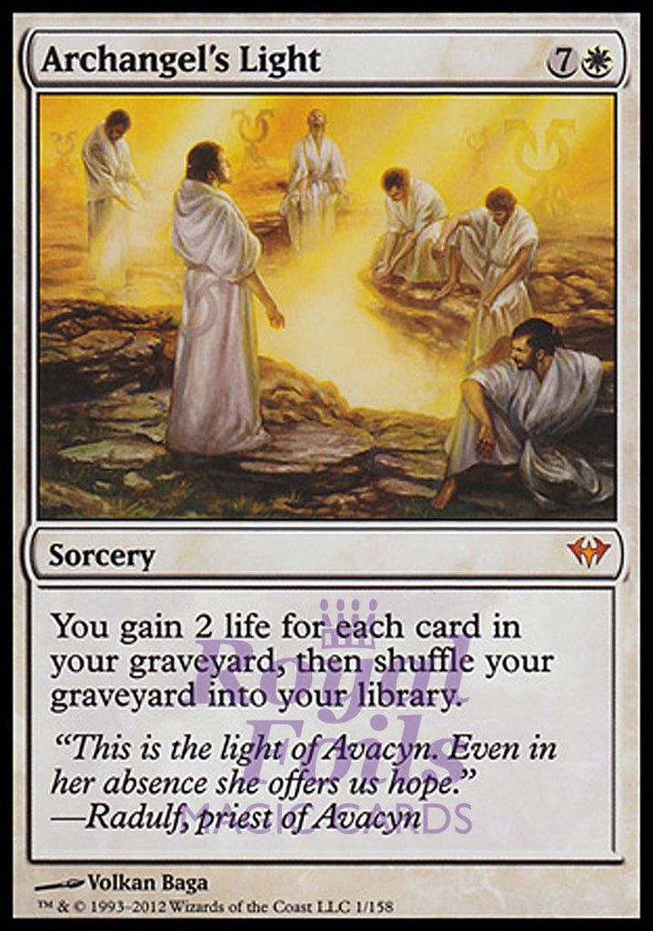 **1x FOIL Archangel's Light** DKA MTG Dark Ascension Mythic MINT white