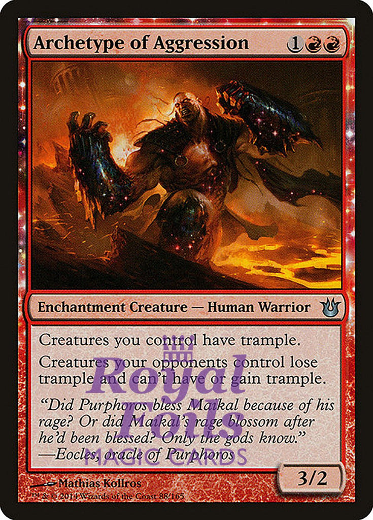 **1x FOIL Archetype of Aggression** BNG MTG Born of the Gods Uncommon MINT red