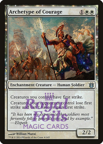 **1x FOIL Archetype of Courage** BNG MTG Born of the Gods Uncommon MINT white
