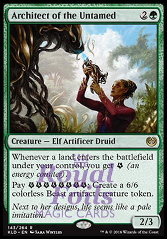 **1x FOIL Architect of the Untamed** KLD MTG Kaladesh Rare MINT green