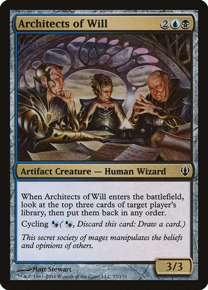 **1x FOIL Architects of Will** ARB MTG Alara Reborn Common NM blue black