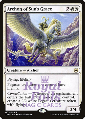 **1x FOIL Archon of Sun's Grace** THB MTG Theros Beyond Death Rare MINT white
