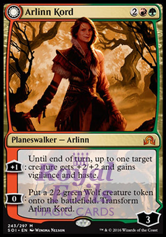 **1x FOIL Arlinn Kord // Arlinn Embraced by the Moon** SOI MTG Shadows Over Innistrad Mythic MINT red green