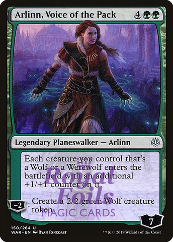 **1x FOIL Arlinn, Voice of the Pack** WAR MTG War of the Spark Uncommon MINT black
