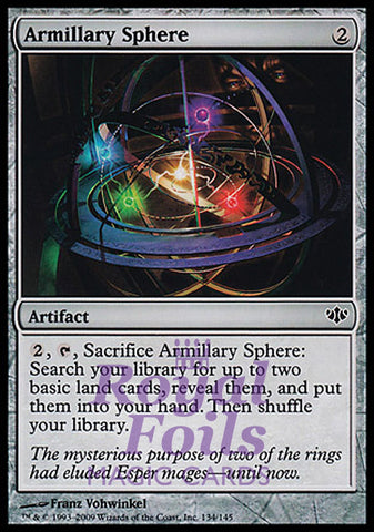 **3x FOIL Armillary Sphere** CON MTG Conflux Common 1 MT 2 NM artifact