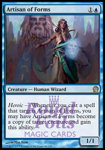 **1x FOIL Artisan of Forms** THS MTG Theros Rare MINT blue