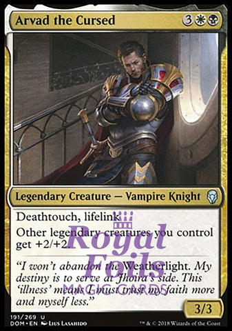 **1x FOIL Arvad the Cursed** DOM MTG Dominaria Uncommon MINT white black