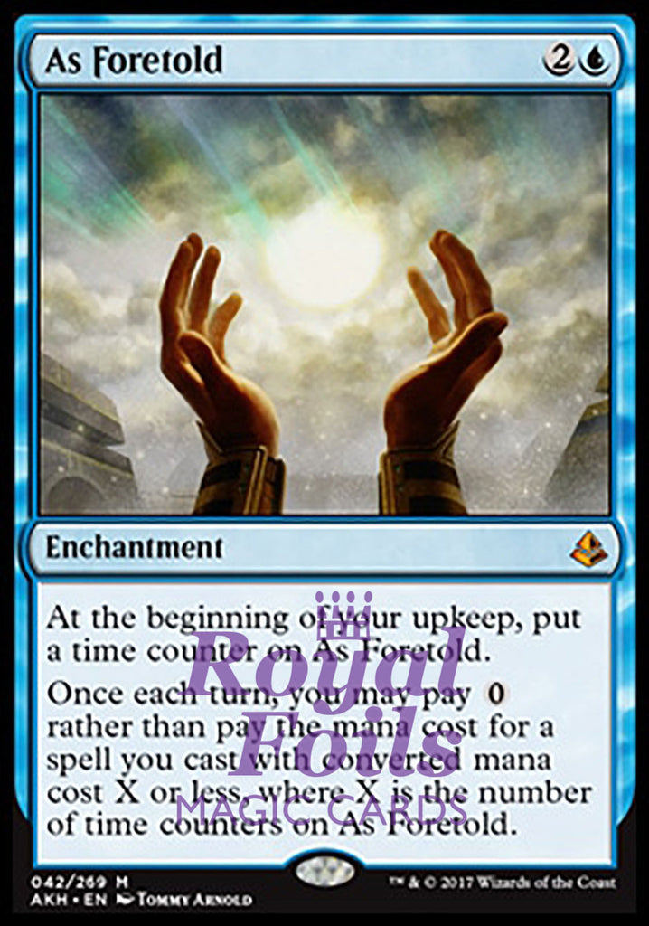 **1x FOIL As Foretold** AKH MTG Amonkhet Mythic MINT blue