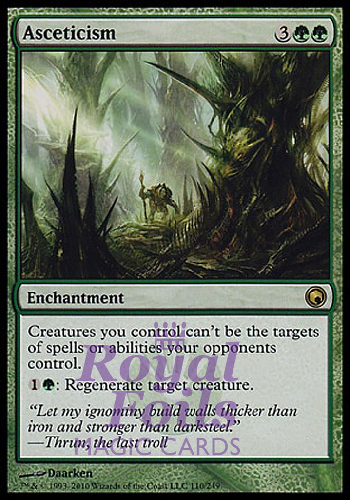 **1x FOIL Asceticism** SOM MTG Scars of Mirrodin Rare MINT green
