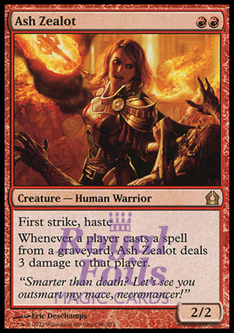**1x FOIL Ash Zealot** RTR MTG Return to Ravnica Rare MINT red