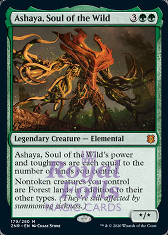 **1x FOIL Ashaya, Soul of the Wild** ZNR MTG Zendikar Rising Mythic MINT green