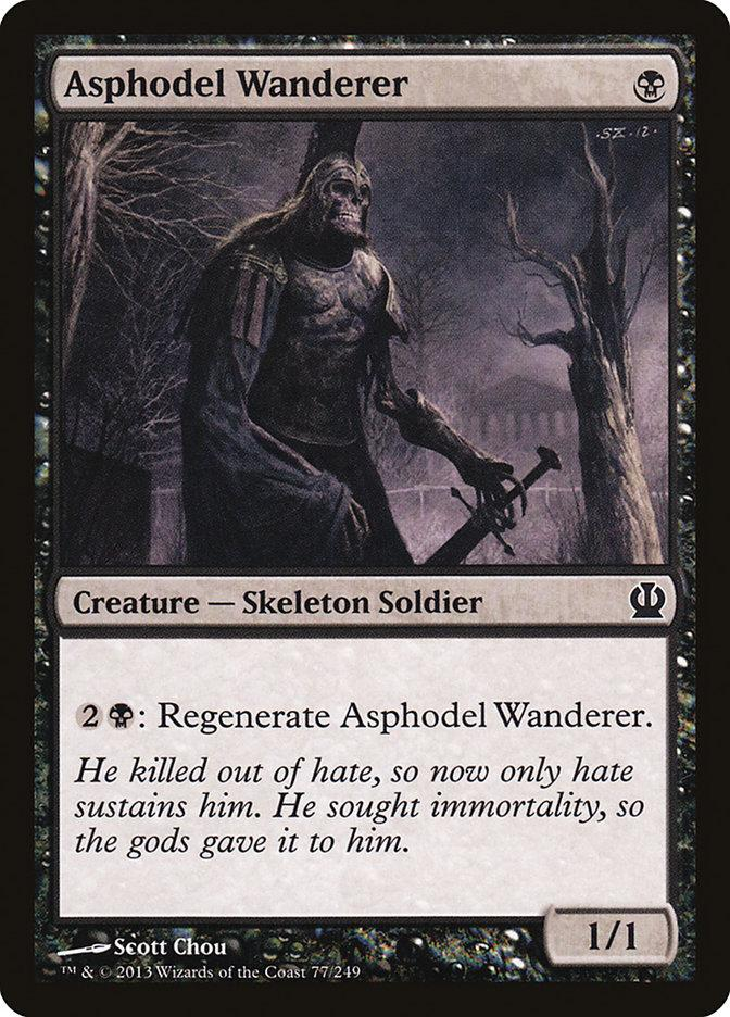 **4x FOIL Asphodel Wanderer** THS MTG Theros Common MINT black