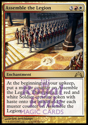 **1x FOIL Assemble the Legion** GTC MTG Gatecrash Rare MINT red white