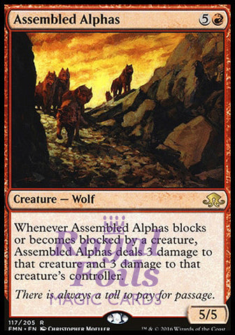 **1x FOIL Assembled Alphas** EMN MTG Eldritch Moon Rare MINT red