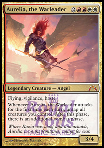 **1x FOIL Aurelia, the Warleader** GTC MTG Gatecrash Mythic MINT red white
