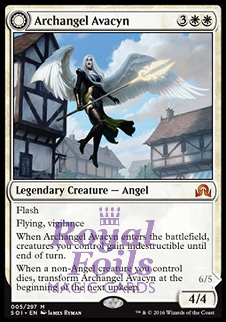 **1x FOIL Archangel Avacyn // Avacyn the Purifier** SOI MTG Shadows Over Innistrad Mythic MINT white red