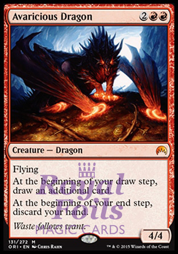 **1x FOIL Avaricious Dragon** ORI MTG Magic Origins Mythic MINT red