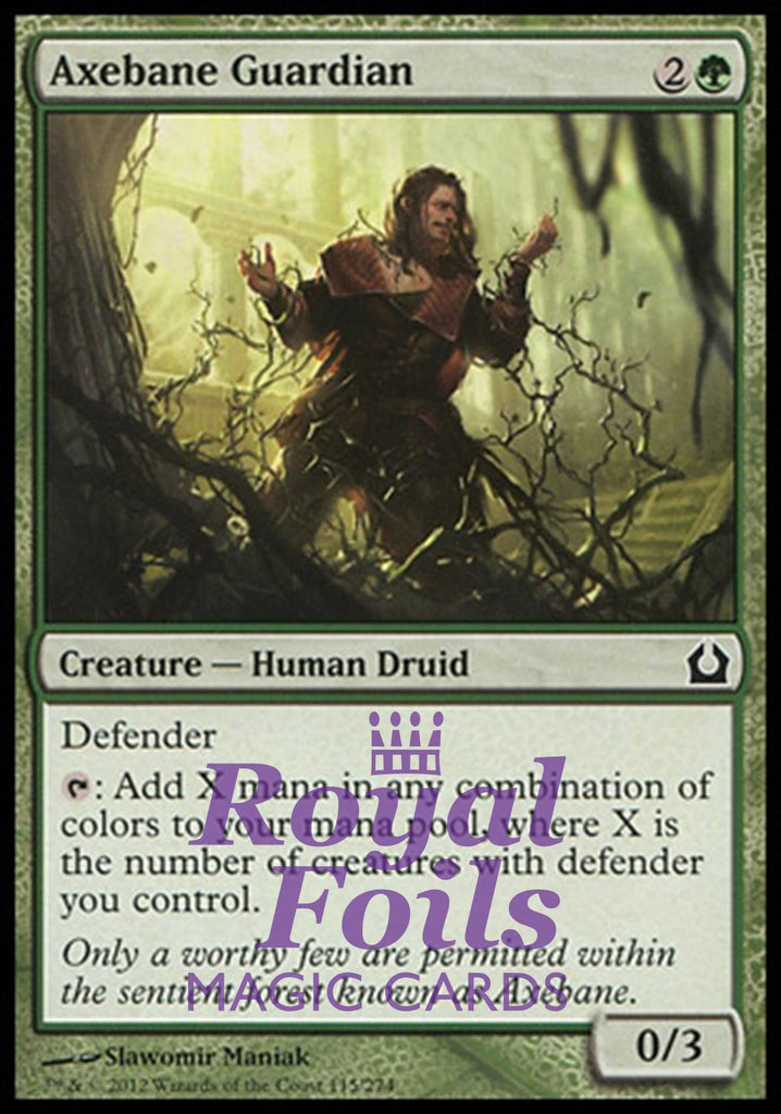 **1x FOIL Axebane Guardian** RTR MTG Return to Ravnica Common MINT green