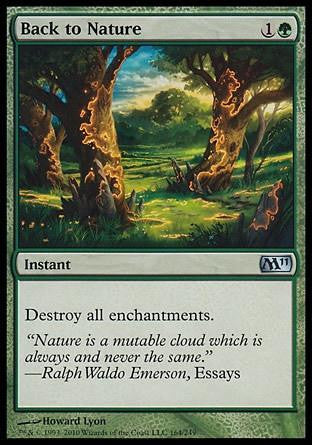 **1x FOIL Back to Nature** MTG M11 Core Set Uncommon MINT white